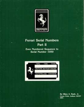 Ferrari Serial Numbers Part 2