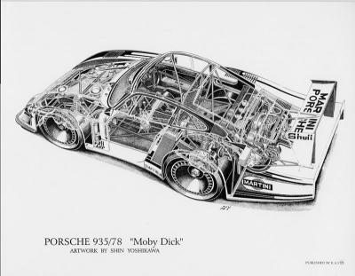Porsche 935/78 Moby Dick Cutaway