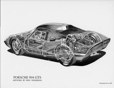 Porsche 904 GTS Cutaway