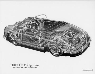 Porsche 356 Speedster Cutaway