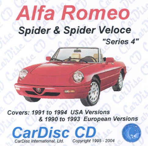 Alfa Romeo Spider 1991 1994 Cd Autobooks Aerobooks